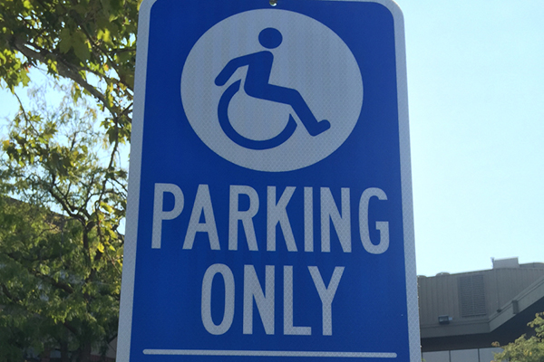 ada compliant parking & signage