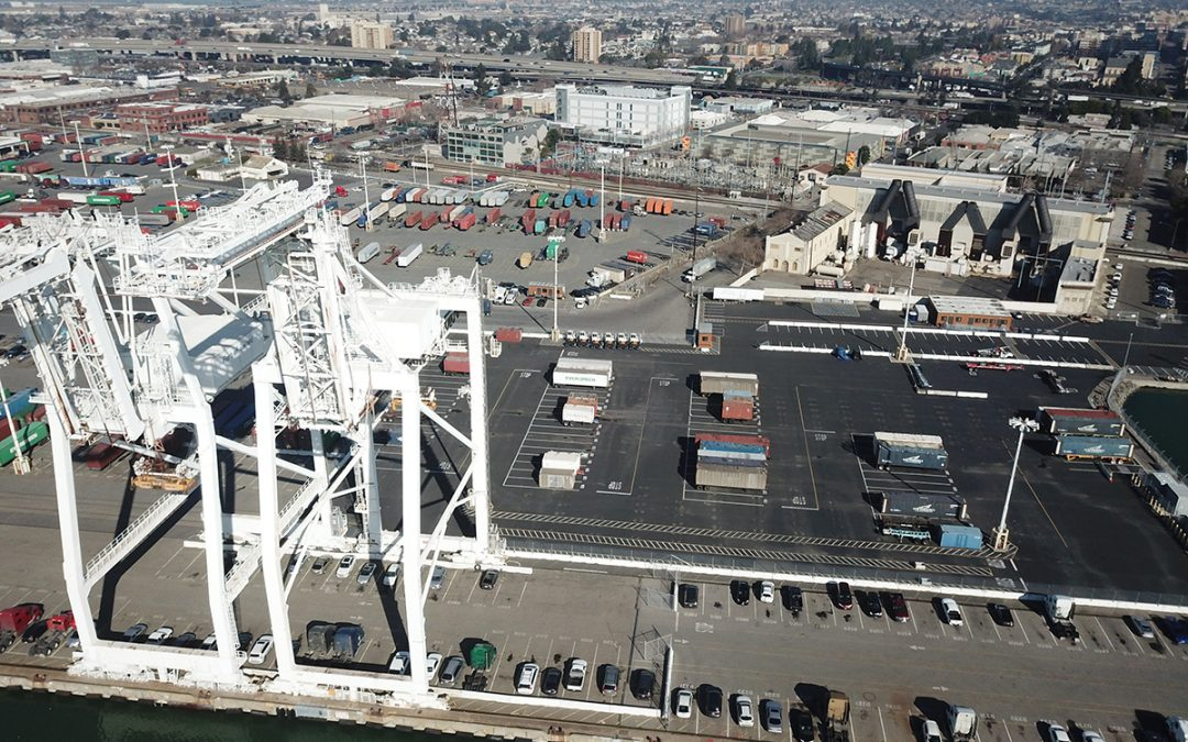 Striping Work at Port of Oakland